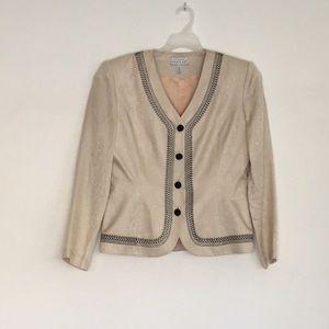 Adrianna Papell 100% Silk Blazer Jacket Size 10